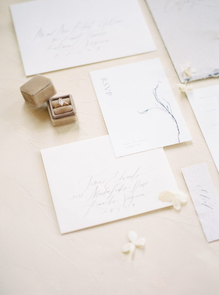 Monochromatic Flatlay Fine art wedding photographer Lindsey Nicole Photography