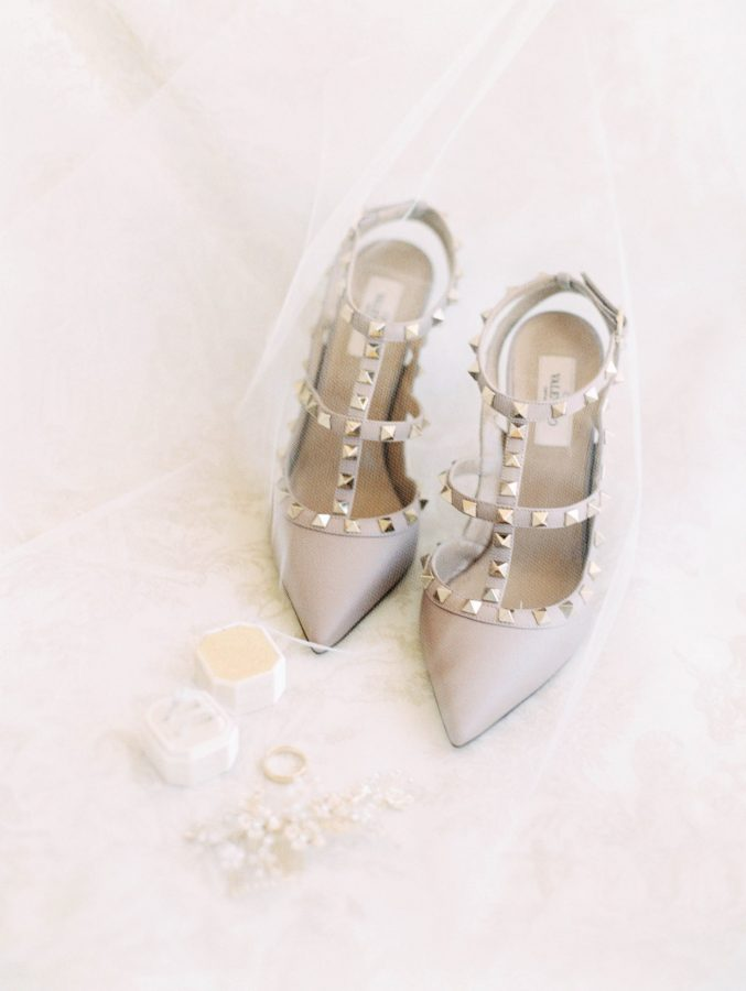 Valentino Wedding Shoes Greystone Mansion Beverly Hills Luxury Wedding Ceremony