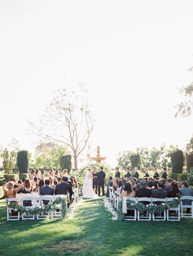 Greystone Mansion Beverly Hills Luxury Wedding Ceremony